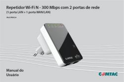 REPETIDOR/ACESS POINT WIFI N 300MBPS 2 LAN COMTAC